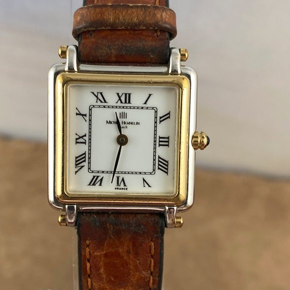 Vintage Michel Herbelin Paris 2 Tone Tank Watch